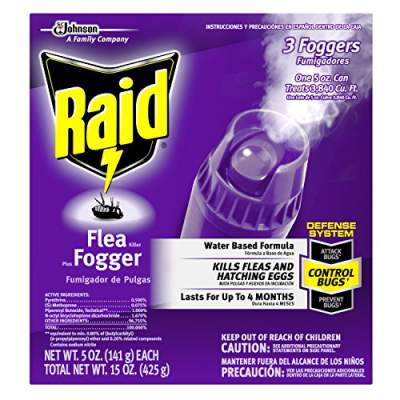 Raid max flea killer plus fogger