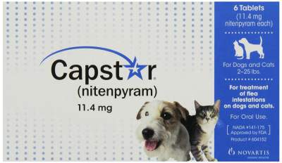 Capstar Flea Tablets for Dogs and Cats 2-25 lbs