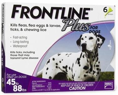 Frontline Plus Tick Control for Dogs and Puppies
