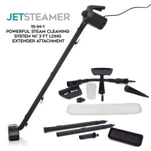 Jet Steamer - 15 in 1 Handheld Multi-Purpose Steam cleaner