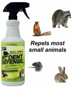 Rodent Defense Small Animal All Natural Deterrent and Repellent Spray