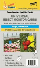 Double-Sided Universal Insect Monitor Cards for White Flies, Aphids, Fungus Gnats, Thrips & Leaf Miners
