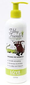 Filthy Friends Organic Pet Shampoo for fleas on dogs