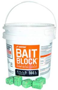 JT Eaton 709-PN Bait Block Rodenticide Anticoagulant Bait, Peanut Butter Flavor, For Mice and Rats