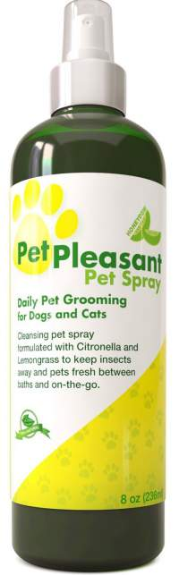 Natural Pet Spray for Dogs & Cats - Tick + Flea & Insect Repellant