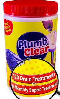 Plumb Clear - Safe Natural Enzyme cleans pipes and toilets