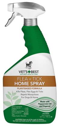 Vets best home flea spray for cats and dogs